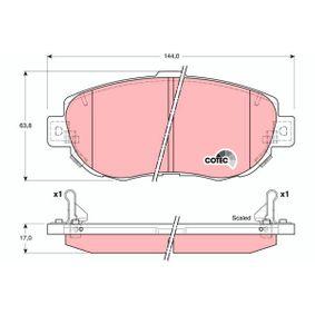 Bremsbelagsatz, Scheibenbremse Höhe: 63,8mm, Dicke/Stärke: 17mm mit OEM-Nummer 04465-14081