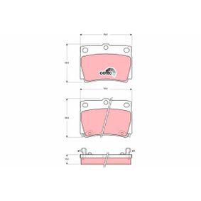 Bremsbelagsatz, Scheibenbremse Art. Nr. GDB3239 120,00€