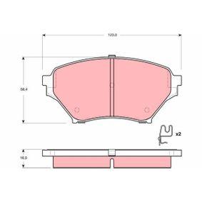 Bremsbelagsatz, Scheibenbremse Höhe: 58,4mm, Dicke/Stärke: 16,0mm mit OEM-Nummer N0Y9 33 23Z