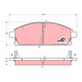 Комплект спирачно феродо, дискови спирачки GDB3312 MDX (YD) 3.5 (YD1) Г.П. 2007