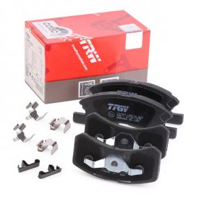 TRW COTEC GDB3358 Bremsbelagsatz, Scheibenbremse Höhe 1: 43,4mm, Höhe 2: 44,4mm, Dicke/Stärke: 15,3mm