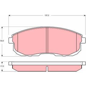 Bremsbelagsatz, Scheibenbremse Art. Nr. GDB3390 120,00€