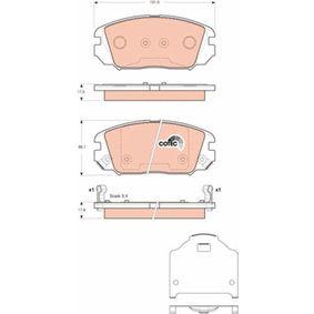 Bremsbelagsatz, Scheibenbremse Art. Nr. GDB3409 120,00€