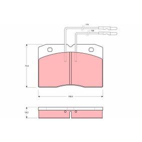 Bremsbelagsatz, Scheibenbremse Art. Nr. GDB343 120,00€
