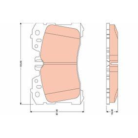 Bremsbelagsatz, Scheibenbremse Höhe: 88,0mm, Dicke/Stärke: 18,5mm mit OEM-Nummer 04465 0W110