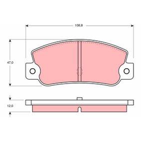 Bremsbelagsatz, Scheibenbremse Höhe: 47mm, Dicke/Stärke: 12mm mit OEM-Nummer 791873