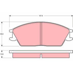 Bremsbelagsatz, Scheibenbremse Höhe: 49mm, Dicke/Stärke: 14,8mm mit OEM-Nummer 5810124A00