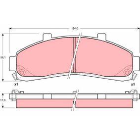 TRW  GDB4010 Bremsbelagsatz, Scheibenbremse Höhe: 56,1mm, Dicke/Stärke: 17,3mm