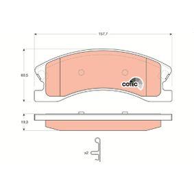 Bremsbelagsatz, Scheibenbremse Art. Nr. GDB4133 120,00€