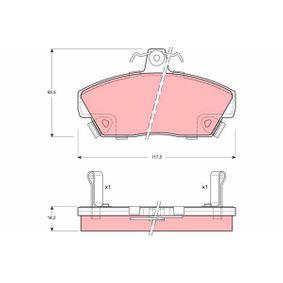 Bremsbelagsatz, Scheibenbremse Höhe: 65,5mm, Dicke/Stärke: 18,2mm mit OEM-Nummer GBP90314