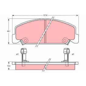 Bremsbelagsatz, Scheibenbremse Höhe: 48,1mm, Dicke/Stärke: 15mm mit OEM-Nummer 45022-SA6-600