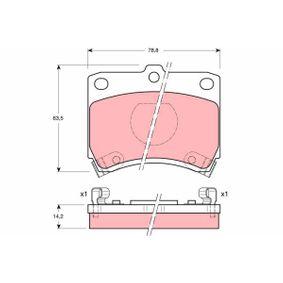 Bremsbelagsatz, Scheibenbremse Art. Nr. GDB773 120,00€