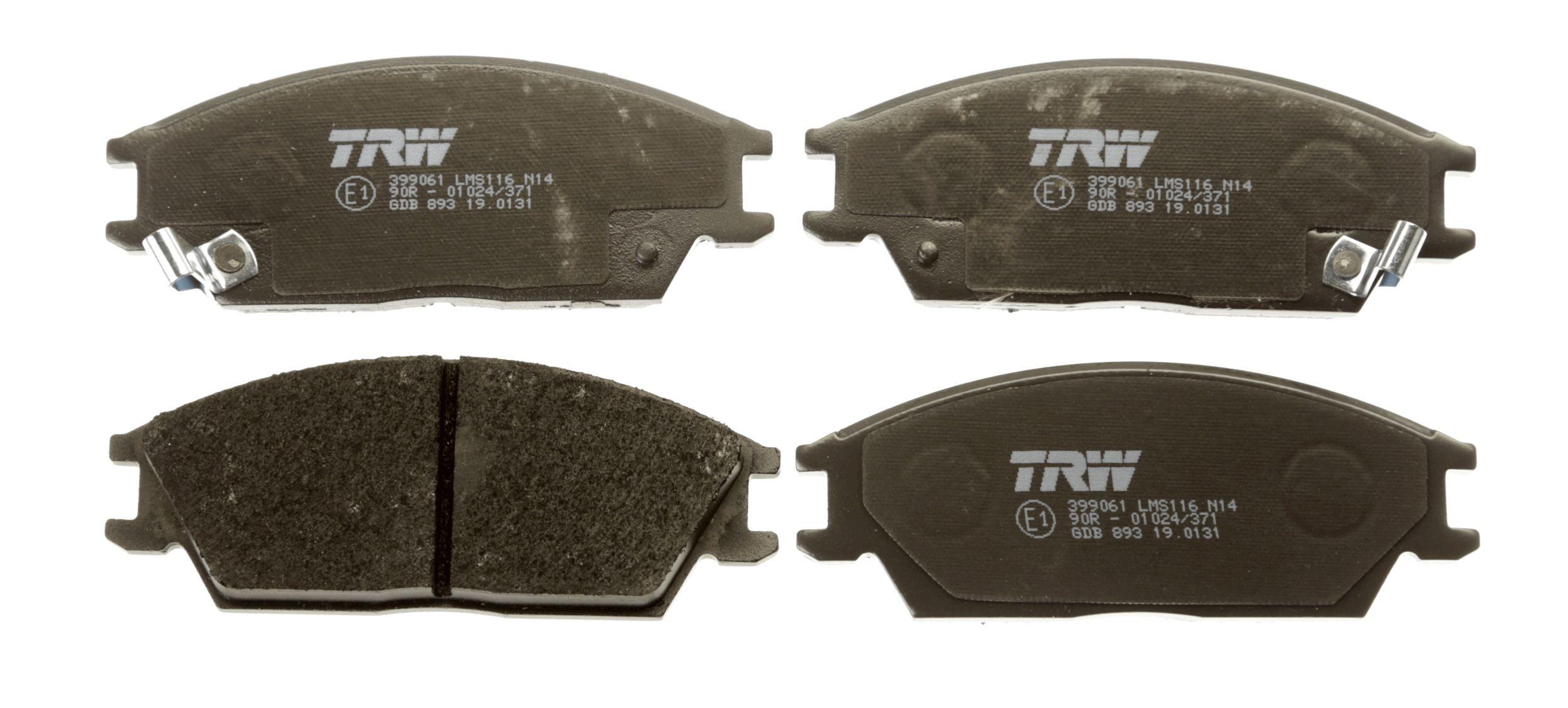 Bremsbelagsatz TRW GDB893 Bewertung
