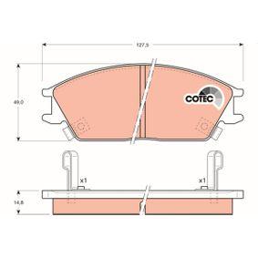 Bremsbelagsatz, Scheibenbremse Höhe: 49mm, Dicke/Stärke: 14,8mm mit OEM-Nummer 5810 124B00