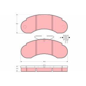 Bremsbelagsatz, Scheibenbremse Art. Nr. GDB950 120,00€