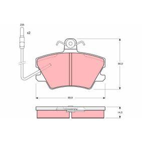Bremsbelagsatz, Scheibenbremse Höhe: 66,0mm, Dicke/Stärke: 14,5mm mit OEM-Nummer 77 01 205 411