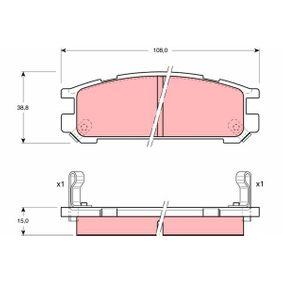 Bremsbelagsatz, Scheibenbremse Art. Nr. GDB990 120,00€