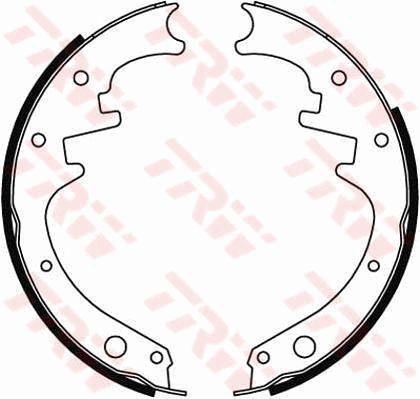 Bremsbacken GS8412 TRW GS8412 in Original Qualität