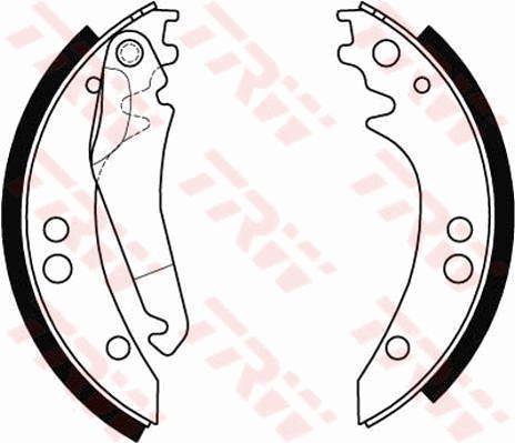 Bremsbacken GS8434 TRW GS8434 in Original Qualität