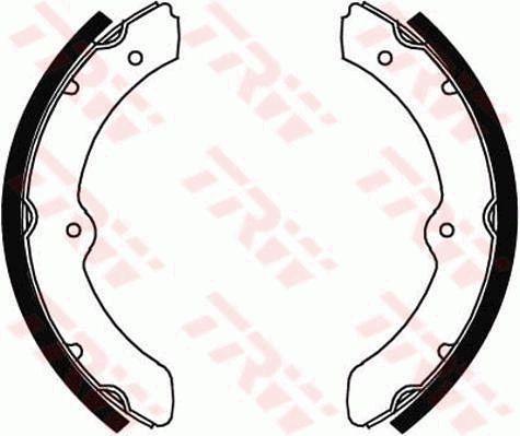 Bremsbacken GS8460 TRW GS8460 in Original Qualität