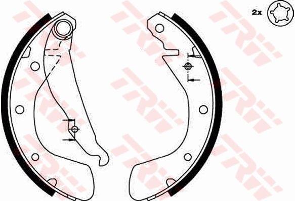 Bremsbacken GS8542 TRW GS8542 in Original Qualität