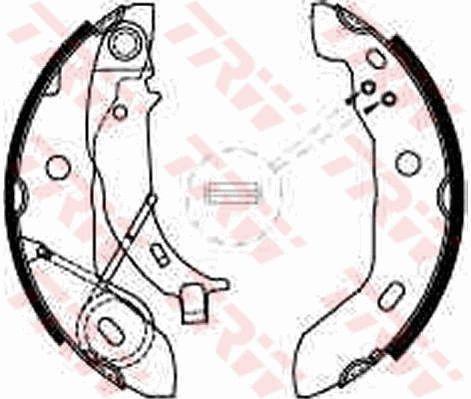 Bremsbacken GS8627 TRW GS8627 in Original Qualität