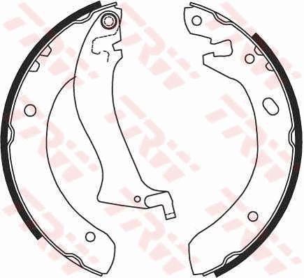 Bremsbacken GS8633 TRW GS8633 in Original Qualität