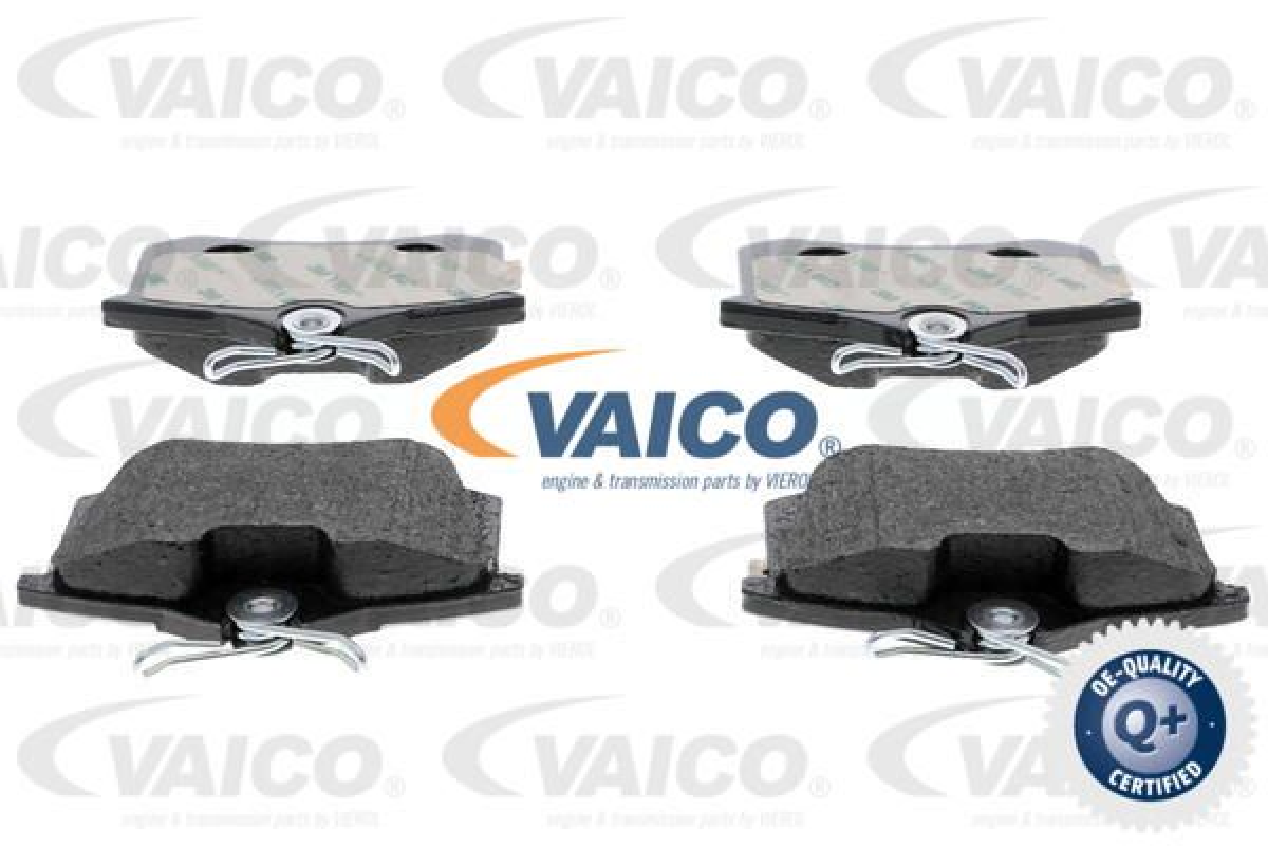 VAICO  V10-8168 Bremsbelagsatz, Scheibenbremse Breite: 87,6mm, Höhe: 52,9mm, Dicke/Stärke: 17,2mm