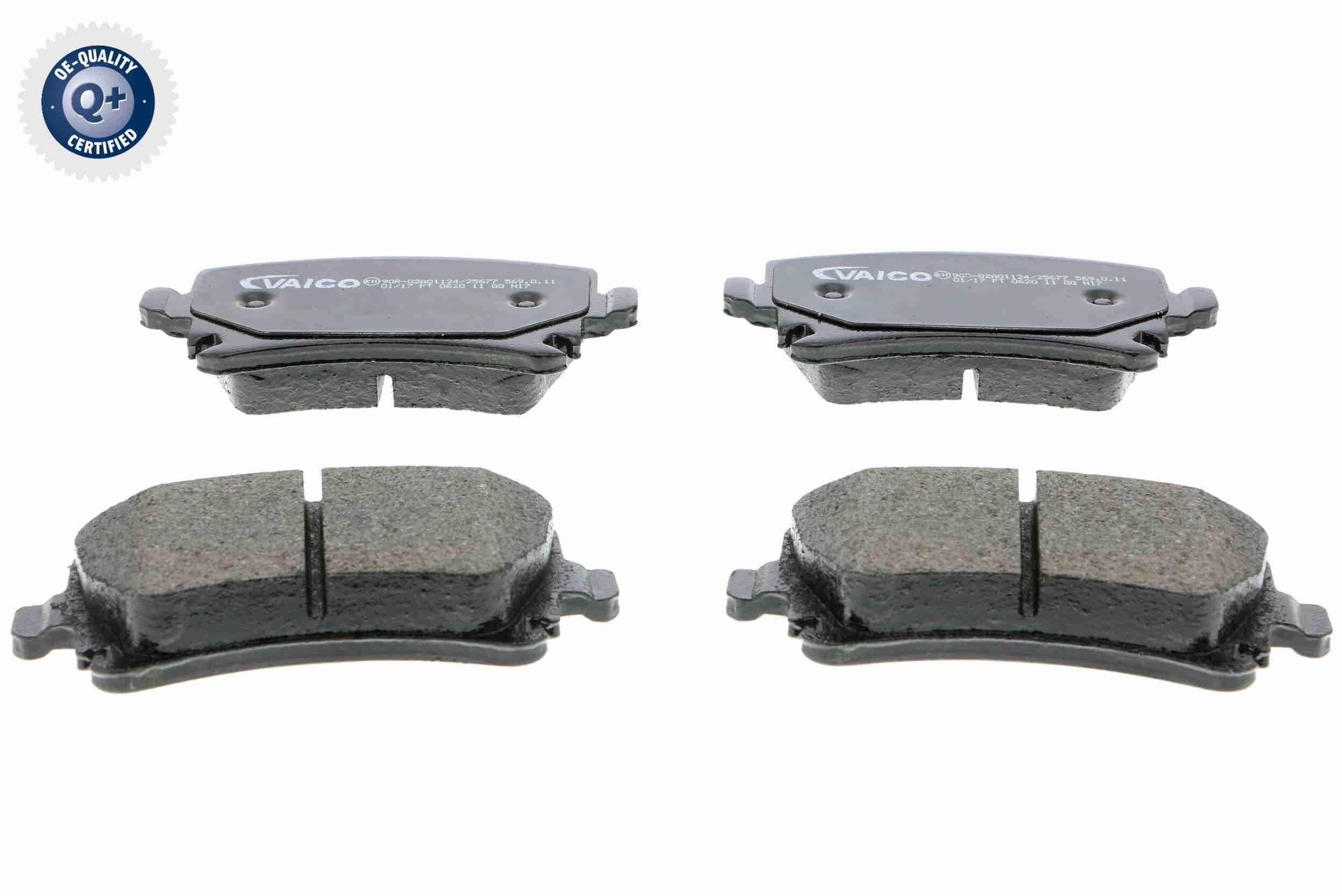VAICO  V10-8173 Bremsbelagsatz, Scheibenbremse Breite: 105,3mm, Höhe: 55,9mm, Dicke/Stärke: 17,1mm