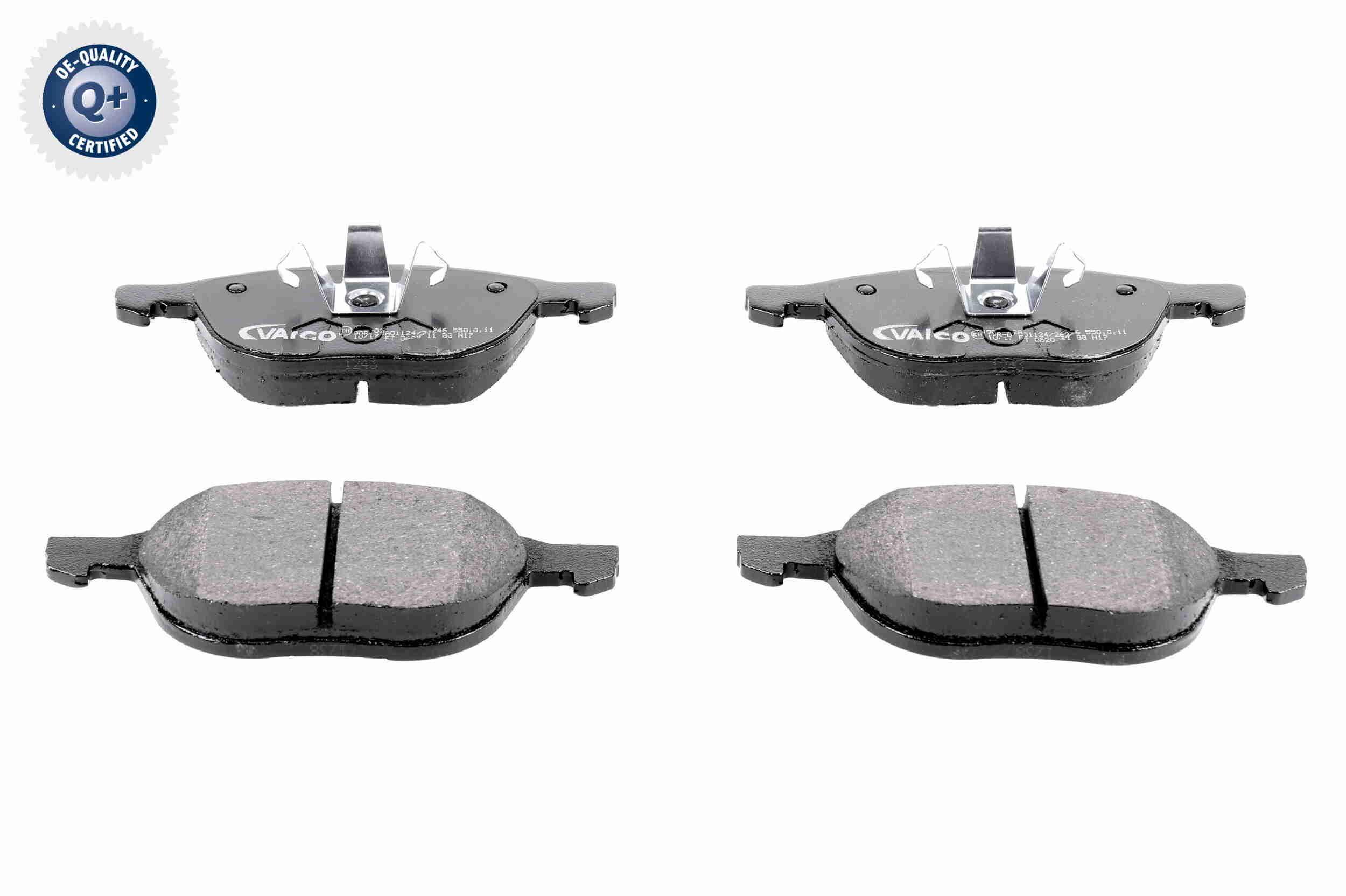 VAICO  V25-8112 Bremsbelagsatz, Scheibenbremse Breite 1: 155,1mm, Breite 2: 156,3mm, Höhe 1: 62,4mm, Höhe 2: 67mm, Dicke/Stärke: 18,1mm