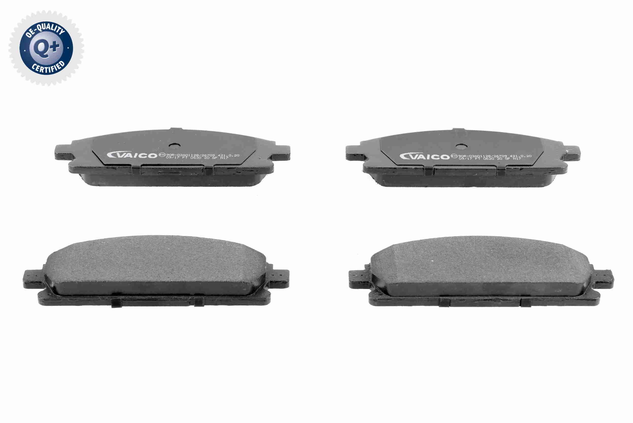 VAICO  V38-0034 Bremsbelagsatz, Scheibenbremse Breite: 158,8mm, Höhe: 56,3mm, Dicke/Stärke: 16,5mm