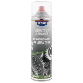 Hochleistungsentfetter PRESTO 157196 für Auto (Montagereiniger-Spray 500, Inhalt: 500ml)