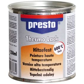 Hitzebeständiger Lack PRESTO 287664 für Auto (Thermolack schwarz 250, Inhalt: 250ml)