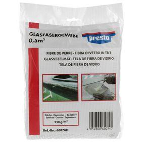 Metallspachtel PRESTO 600740 für Auto (Glasgewebeband 0,5 qm)