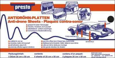 PRESTO  608012 Sound deadening mat
