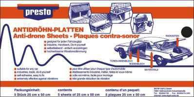 PRESTO  608029 Ηχομονωτικό υλικό αυτοκινήτου