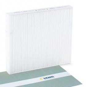 Filter, interior air Length: 248mm, Width: 217mm, Height: 30mm with OEM Number 6Q0820367