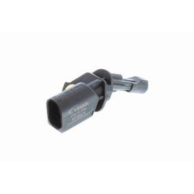 Sensor, Raddrehzahl Pol-Anzahl: 2-polig mit OEM-Nummer WHT 003 858