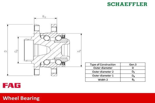 Wheel Bearing FAG 713 6443 40 rating
