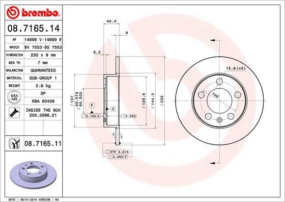 Article № 08.7165.11 BREMBO prices