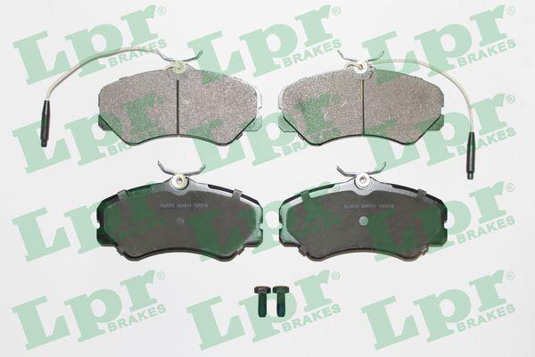 LPR  05P011 Bremsbelagsatz, Scheibenbremse Breite: 144,9mm, Höhe: 71,6mm, Dicke/Stärke: 19,5mm