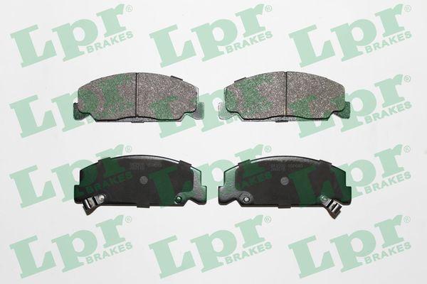 LPR  05P083 Bremsbelagsatz, Scheibenbremse Breite: 127,8mm, Höhe: 48mm, Dicke/Stärke: 15mm