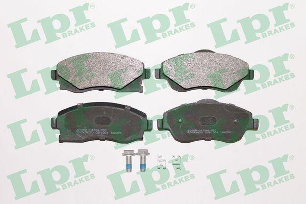 LPR  05P1004 Bremsbelagsatz, Scheibenbremse Breite: 131,8mm, Höhe 1: 51,4mm, Höhe 2: 55,6mm, Dicke/Stärke: 17mm