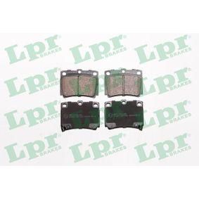 LPR  05P1029 Bremsbelagsatz, Scheibenbremse Breite: 78,8mm, Höhe: 58,9mm, Dicke/Stärke: 15mm