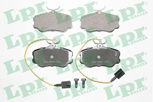 LPR  05P104 Bremsbelagsatz, Scheibenbremse Breite: 110mm, Höhe: 58,5mm, Dicke/Stärke: 19mm
