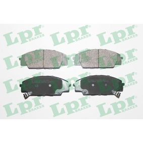 Brake Pad Set, disc brake Width: 135,2mm, Height: 52,5mm, Thickness: 17mm with OEM Number 45022-S2AE-50