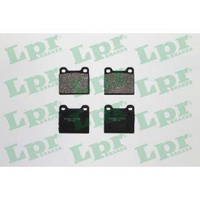 LPR Bremsbelagsatz, Scheibenbremse 05P109 für MERCEDES-BENZ S-CLASS (W116) 280 SE,SEL (116.024) ab Baujahr 08.1972, 185 PS