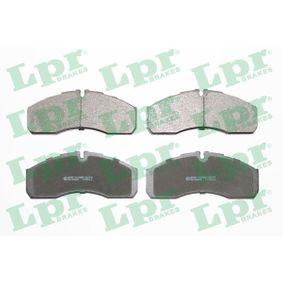 LPR  05P1109 Bremsbelagsatz, Scheibenbremse Breite: 165mm, Höhe: 68mm, Dicke/Stärke: 20mm