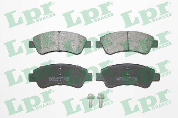 LPR  05P1188 Bremsbelagsatz, Scheibenbremse Breite: 137mm, Höhe: 52mm, Dicke/Stärke: 18,8mm