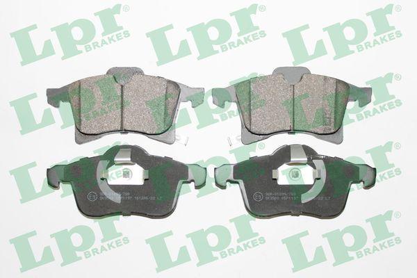 LPR  05P1197 Комплект спирачно феродо, дискови спирачки ширина 1: 156,3мм, ширина 2: 155,1мм, височина 1: 76мм, височина 2: 69,7мм, дебелина: 19,6мм